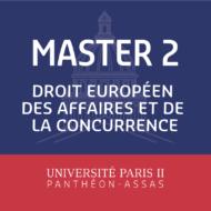 Master 2 Droit Européen des Affaires et de la Concurrence